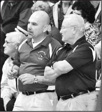Coach Kresin and Coach Weatherman.