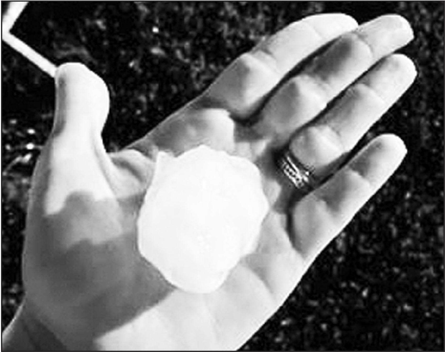 Republic County receives ping-pong sized hail after Friday's three rounds of storms they received with over 4 inches of rainfall.