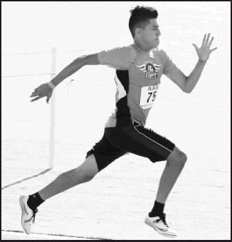 Armando Salcido goes the distance in the long jump at 15 feet, 8.50 inches for an AAU Region 16 Track and Field Qualifier fourth place and advancement in the AAU Jr. Olympics on August 1.