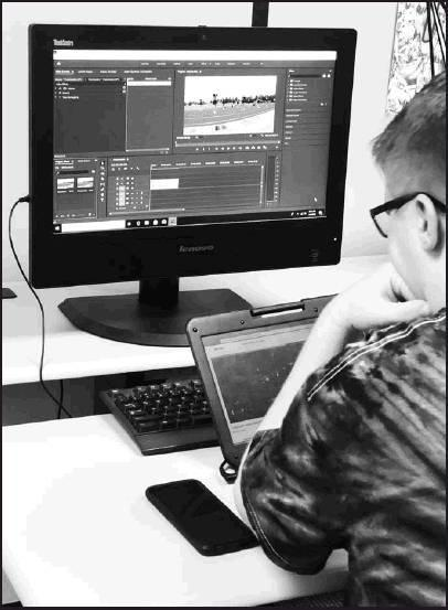 Beloit High School students put their film to video in Mrs. Burke's Digital Media Design and Production class.