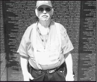 Arthur Jordan, Beloit finds familiar names on the Vietnam War Wall in Washington D.C. during the Kansas Honor Flight.
