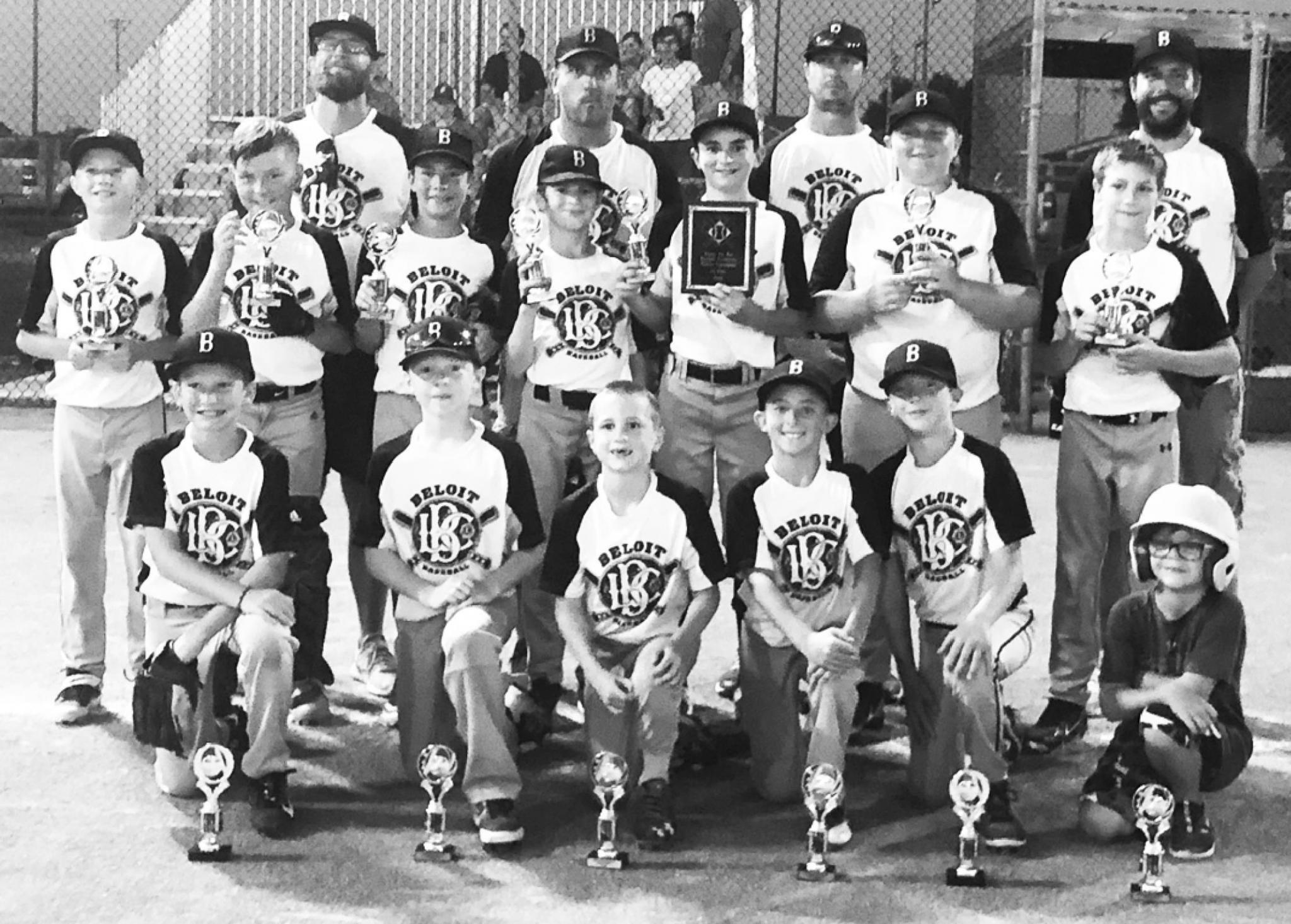 District 1 Champions The 12-Under Pee Wee District 1 Champions Beloit Hornets team are from left to right, front row: Kanean Olson, Rilee Lundine, Simeon Horinek, Carson Thomas, Jon Fouts, Kael Rabe. Middle row: Charlie Burke, Kaden Rabe, Pax Milbers, Wad