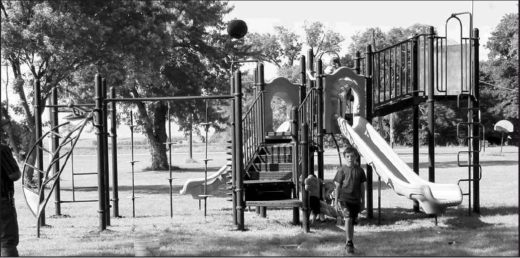 New playground equipment commemorates the 2019 Shanks Park 100th celebration in Simpson.