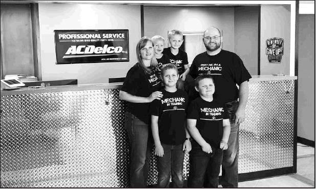 The Keever family of Elijah and Lara Keever and their four sons, Noah 9, Jonah 7, Caleb 3 and David 1 have opened their doors at the newly remodeled Keever Brothers Automotive, 201 S. Campbell, Beloit.