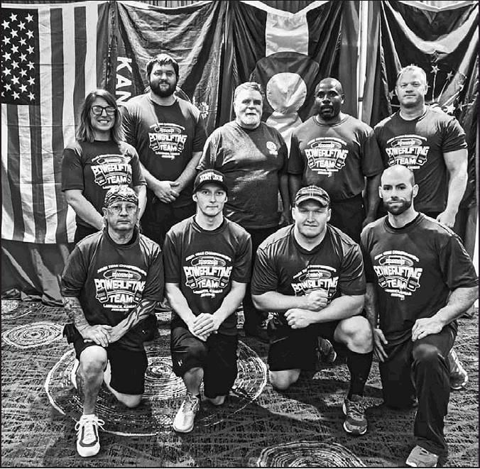 Left: The NASA Kansas Powerlifting team placed 3rd overall in the competition. Mitchell is the son of Mark Sahlfeld and Sharon Sahlfeld, Beloit.