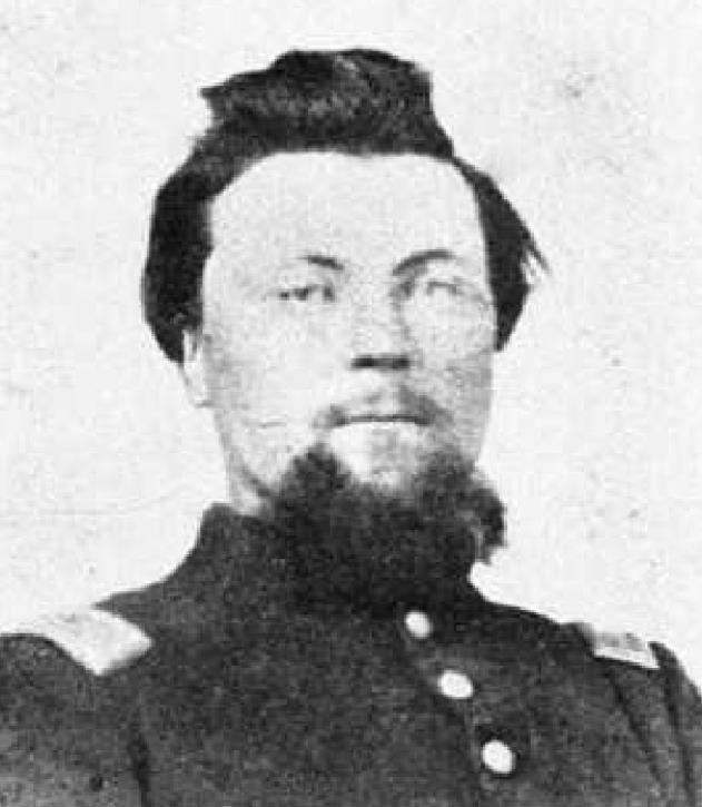 Captain Oly (Oley) F. Johnson, for whom the Johnsonville Post Office was named. His marriage to Miss Elizabeth Zimmer was the first in Jewell County. They were married on June 17, 1871 by Abraham Alsdurf the Justice of the Peace for Vicksburg Township. He