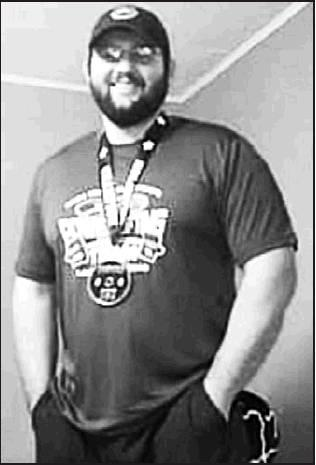 Above: Mitchell Sahlfeld, formerly of Beloit, recently won the 2019 NASA USA Championship in his 282 weight division during the Team Nationals held June 22-23 in Topeka. Sahlfeld lifted 551 pounds in the squat competition, 402 in the bench press and 623 i