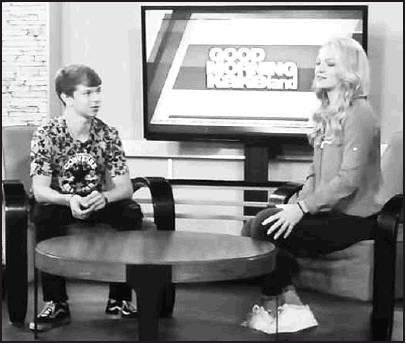 Tristan Thompson airs on KAKE News during an interview for the Talented Teens session on Monday.
