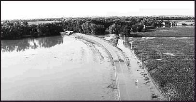 Flooding around, Superior, Neb. on Thursday.