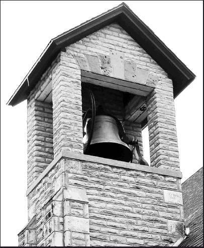 The Presbyterian Church Bell is one of six bells cast as exact four-fifths replicas of the liberty bell in Pennsylvania. It was purchased for $500 and arrived in Beloit on March 8, 1879. It weighs 2050 pounds and still rings beautifully. It is the only be