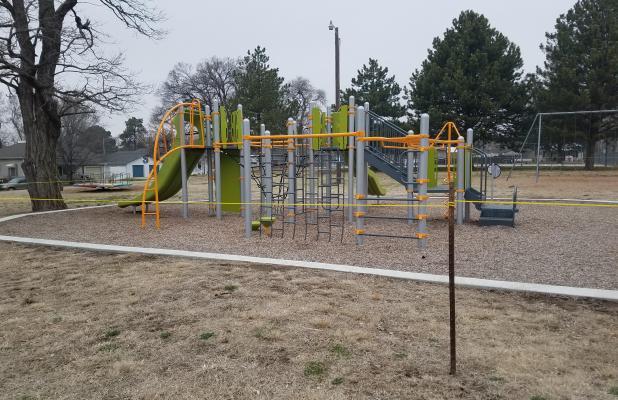 Playground equipment closed